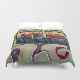 Departure with Ghosts Duvet Cover