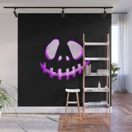 halloween. Jack O Lantern Purple Wall Mural