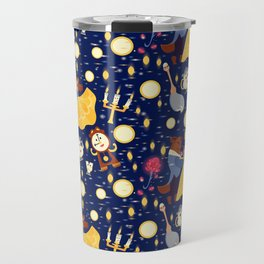 Be Our Guest Pattern Travel Mug