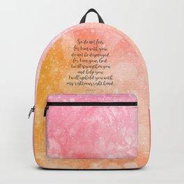 Isaiah 41:10, Uplifting Bible Verse Backpack