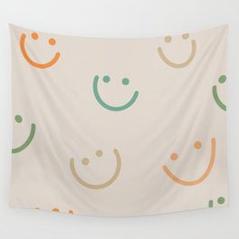 Colorful happy smiles Wall Tapestry