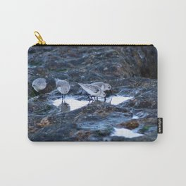 Sandpipers Birds feeding Rock Tide Pool Seashore Carry-All Pouch