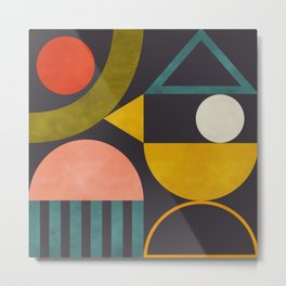 mid century bauhaus geometry abstract 2020 Metal Print