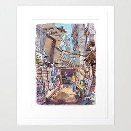 El Moez Street Cairo Art Print