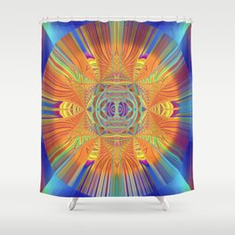 Psychedelic African Medallion Mandala Shower Curtain