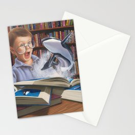 Where Books Come to Life Stationery Cards