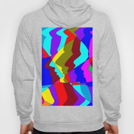 A Art Piece of Profiles in Various Colors Hoody