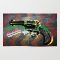 gun Area & Throw Rugs featuring gun by mark ashkenazi