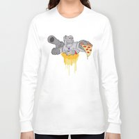pizza Long Sleeve T-shirts featuring Pizza by Jake Beeson