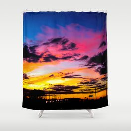 Sunset on Hwy 380 Shower Curtain