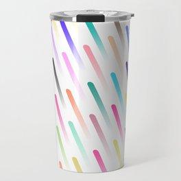 Neon Rain Travel Mug