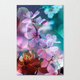 Double Flowers Canvas Print