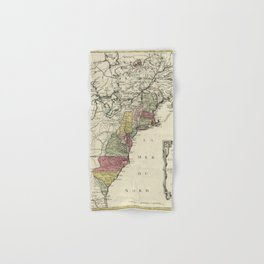 Colonial America Map by Matthaus Lotter (1776) Hand & Bath Towel
