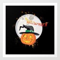 Halloween's pumpkin Art Print