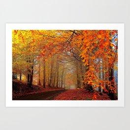 Autumn Parade Art Print