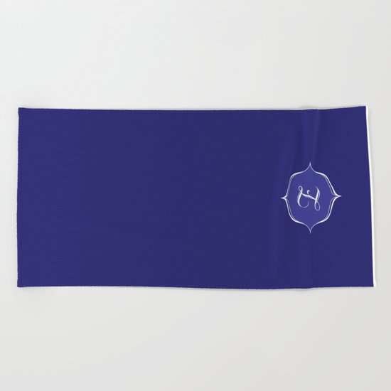 Z Monogram Royal Blue Beach Towel