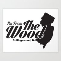 "Collingswood ""From The Wood"" Shirt Art Print"