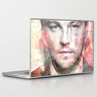 leonardo dicaprio Laptop & iPad Skins featuring Leonardo DiCaprio by Nechifor Ionut