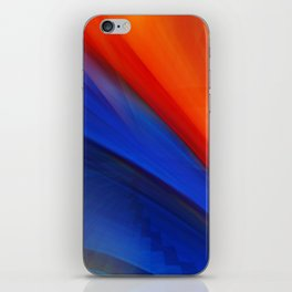 Bright orange and blue iPhone Skin