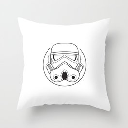 Stormtrooper from Galactic Empire. Throw Pillow