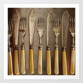 Vintage Cutlery Art Print