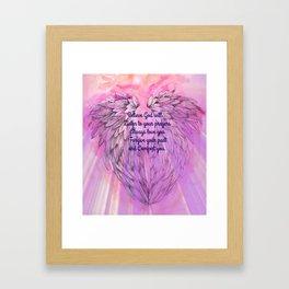 Believe God Will... Framed Art Print