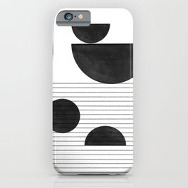 Black and White Balance iPhone Case