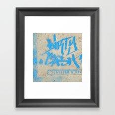 DIRTY CASH - TAGGING STREETART MIAMI by Jay Hops Framed Art Print