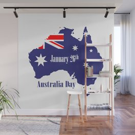 Happy Australia Day Wall Mural