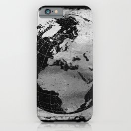 Old Metal Chart of the Earth iPhone Case