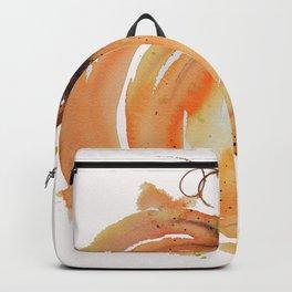 Abstract Watercolor Pumpkin Backpack
