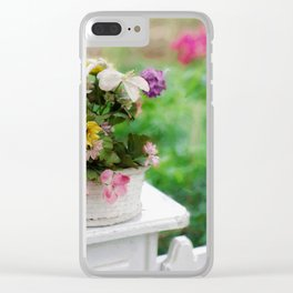 Basket of Flowers Clear iPhone Case