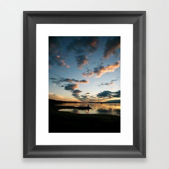 Lake Huron Sunrise II Framed Art Print