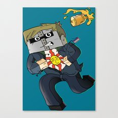 Solaire of Block - Minecraft Avatar Canvas Print