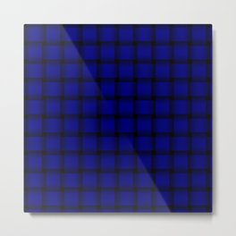 Dark Blue Weave Metal Print