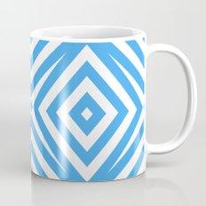 Blue and WHite Diamond Abstract Mug