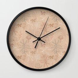 Desert Leaf Pattern Wall Clock