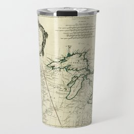 Map of the Great Lakes Region, North America (1784) Travel Mug
