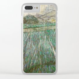 Vincent Van Gogh Wheat Field In Rain Clear iPhone Case