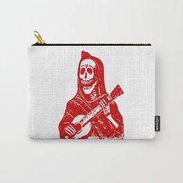 Skeleton With Guitar Carry-All Pouch