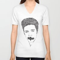 elvis presley V-neck T-shirts featuring ELVIS PRESLEY by Psychedelic Bugs - Besouro Independente