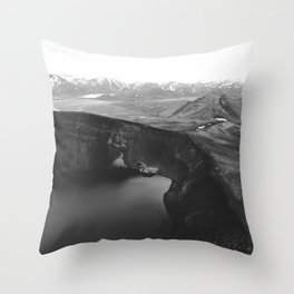 Finland View (Black and White) Throw Pillow