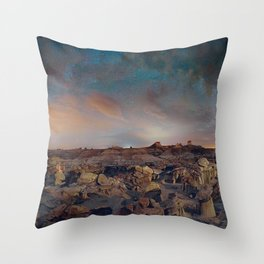 Exploring the Bisti Badlands of New Mexico Throw Pillow