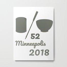 Soup Or Bowl Minneapolis 2018 Metal Print
