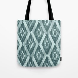Pine and Mint Ikat Tote Bag