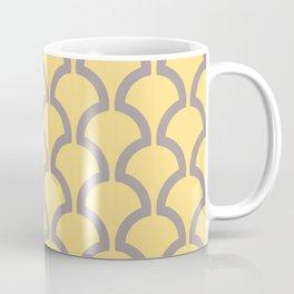 Classic Fan or Scallop Pattern 487 Yellow and Gray Coffee Mug