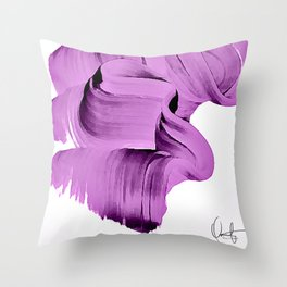 Radiant Orchid Abstract  Throw Pillow