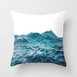 Sea breeze surfs into water Throw Pillow