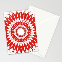 orange kaliedoscope Stationery Cards