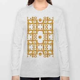 Ironwork - White/Gold Long Sleeve T-shirt